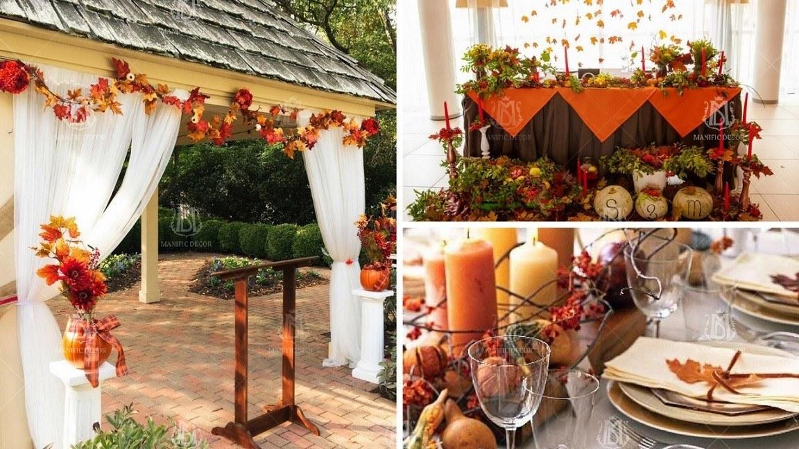 Ідеї декору для осіннього весілля