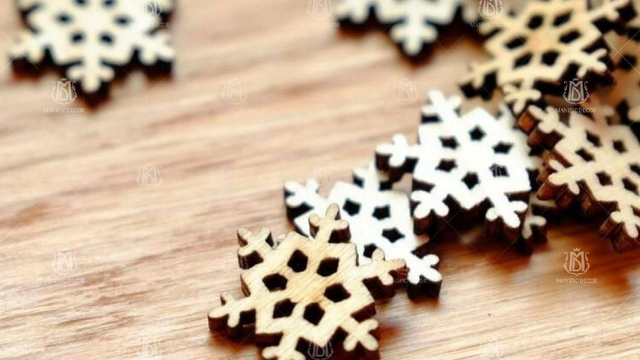 5 самых интересных идей изготовления снежинок из дерева