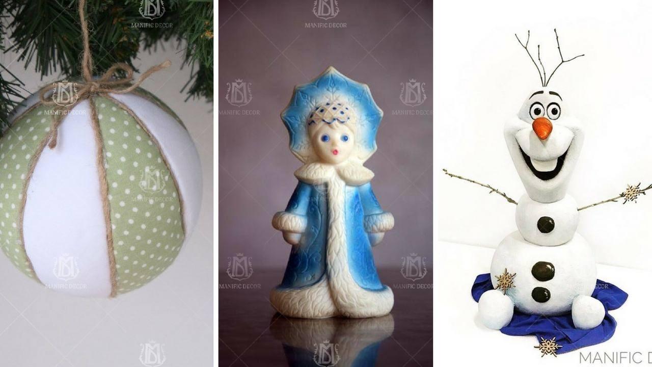 Новогодние игрушки из пенопласта