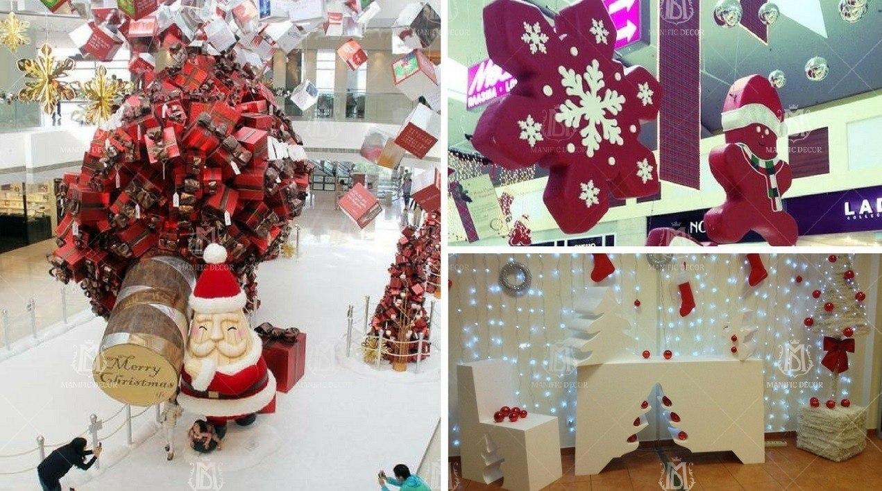 Новорічний декор для магазинів і торгових центрів