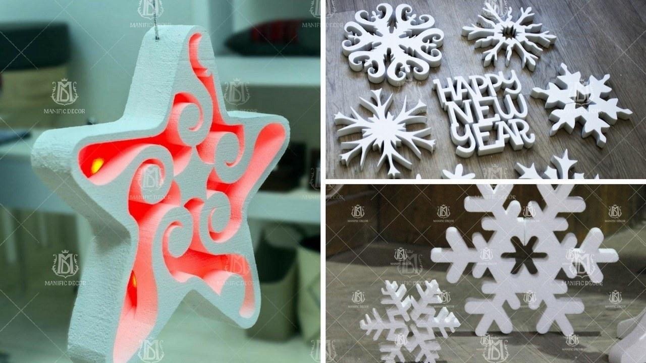 Виготовлення сніжинок з пінопласту