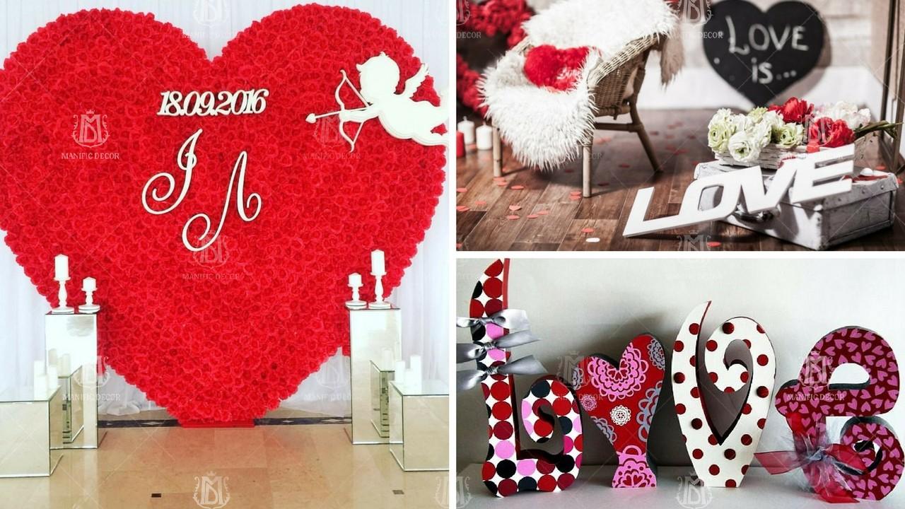 декор приміщення до Дня Валентина