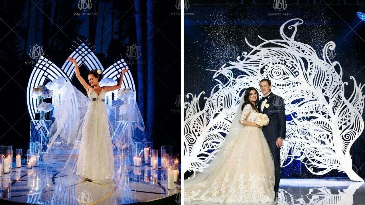 Фотозона на весілля з дзеркальними конструкціями
